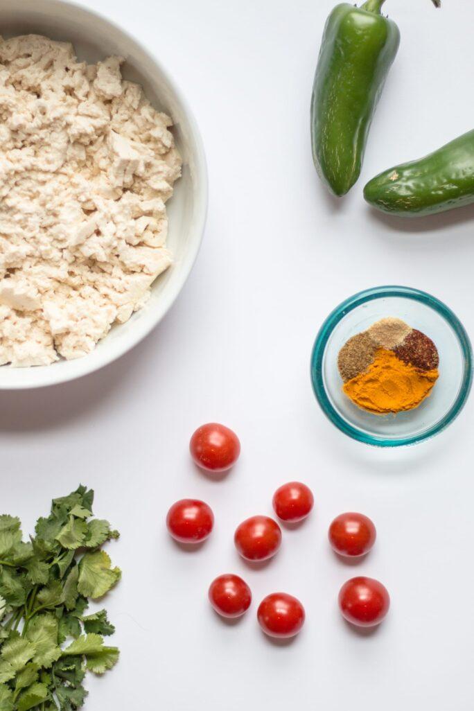 Basic Mexican Tofu Scramble - The Nut-Free Vegan