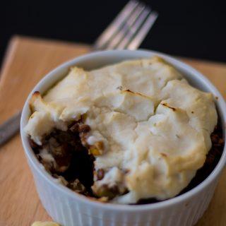 Mini Shepherd's Pies with Cauliflower Mash