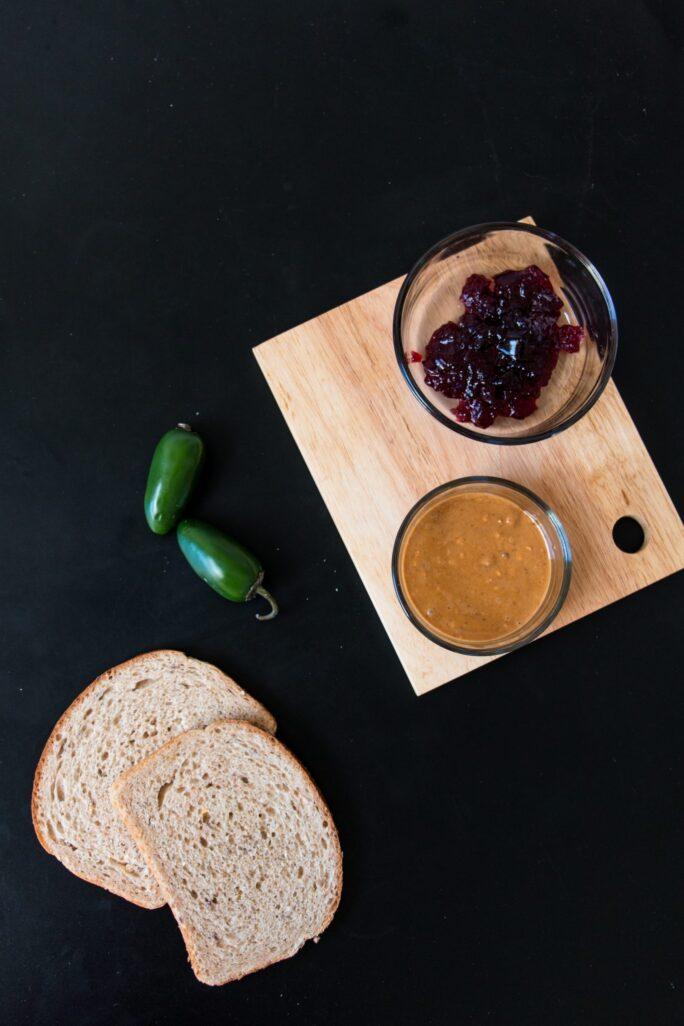 Peanut Butter, Jelly, Jalapeño sandwich