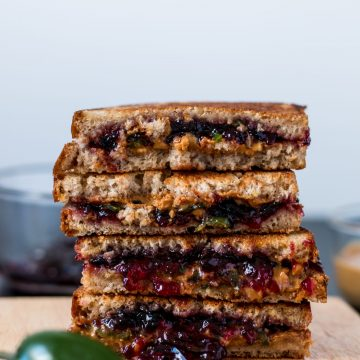 """Peanut Butter,"" Jelly and Jalapeño Sandwich 