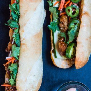 Seitan Banh Mi Sandwich