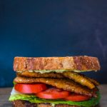Tempeh Bacon, Lettuce and Tomato with Avocado Mayo | www.thenutfreevegan.net