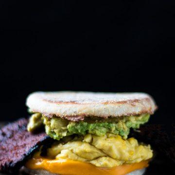 Bodega Breakfast Sandwich with Avocado | www.thenutfreevegan.net