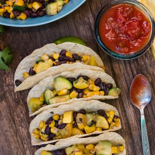 Simple and delicious calabacitas tacos, the prefect nutritious dinner.