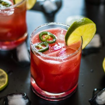 Spicy Watermelon Margarita | www.thenutfreevegan.net