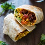 Vegan Chorizo and Tofu Breakfast Burrito | www.thenutfreevegan.net