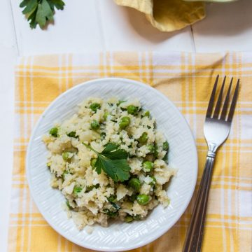 Vegan Cauliflower Rice Risotto | www.thenutfreevegan.net
