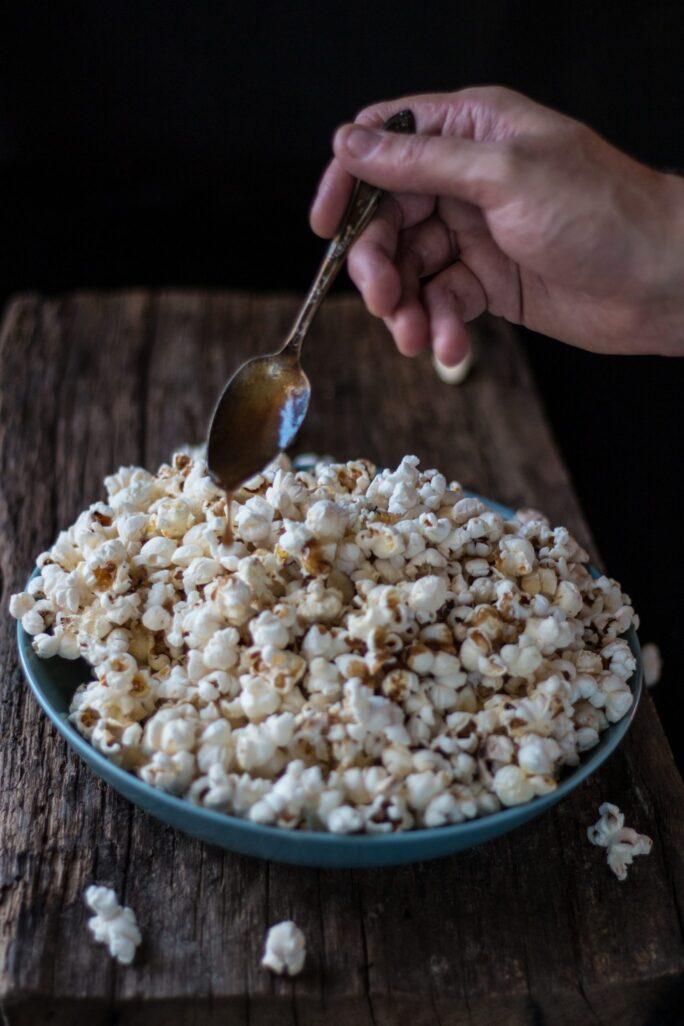 Simple Salted Caramel Popcorn