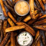 Twice-Fried French Fries with Two Dipping Sauces | www.thenutfreevegan.net