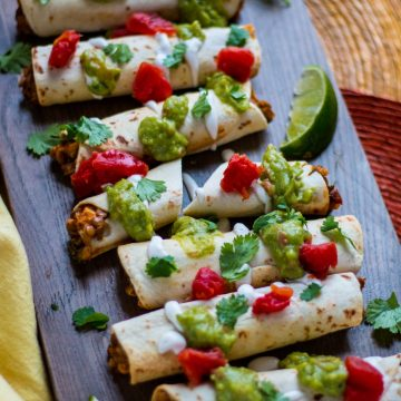 Chipotle Lentil Taquitos | www.thenutfreevegan.net