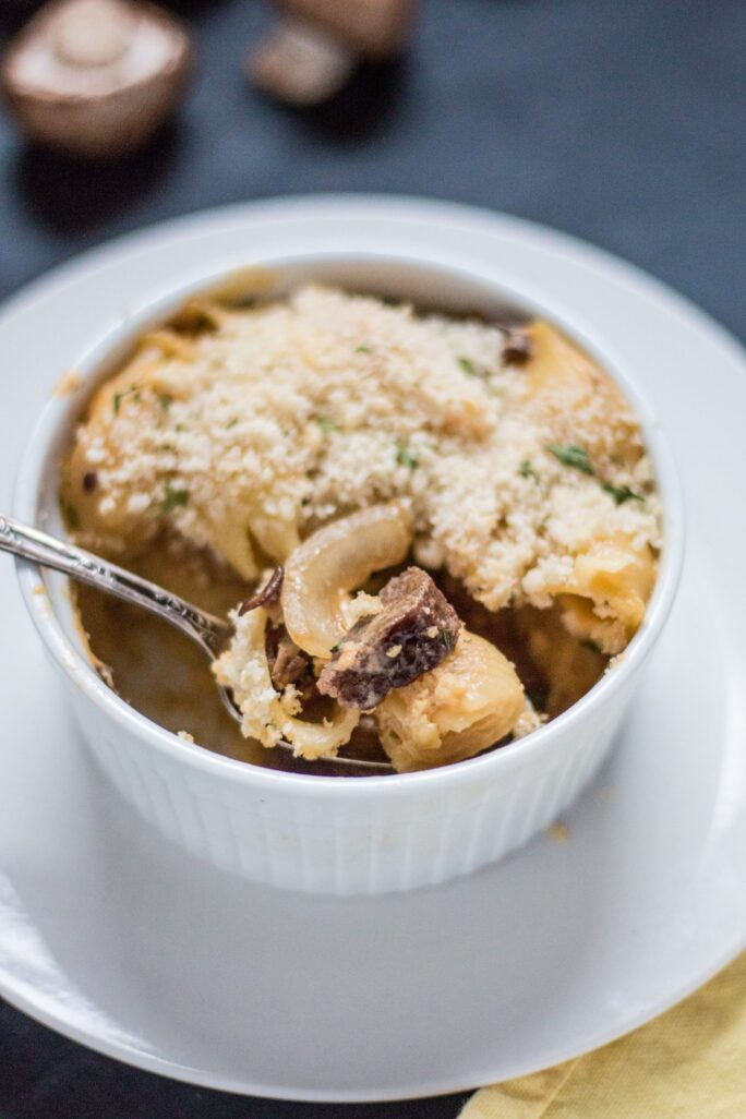 Delicious Philly Cheesesteak Mac 'n' Cheese with Gardein Beefless Tips vegan recipe