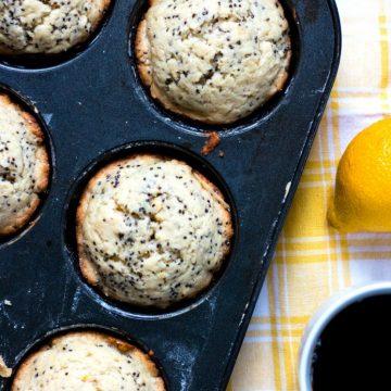 Vegan Lemon Chia Seed Muffins | www.thenutfreevegan.net