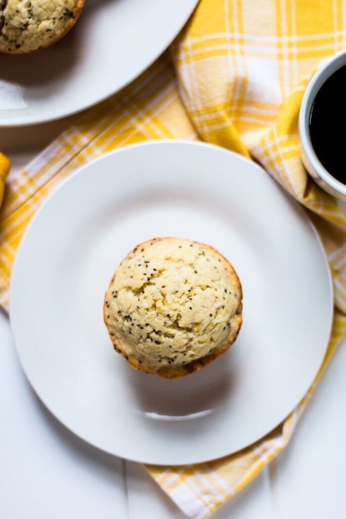 Simple, delicious dairy-free lemon chia muffins