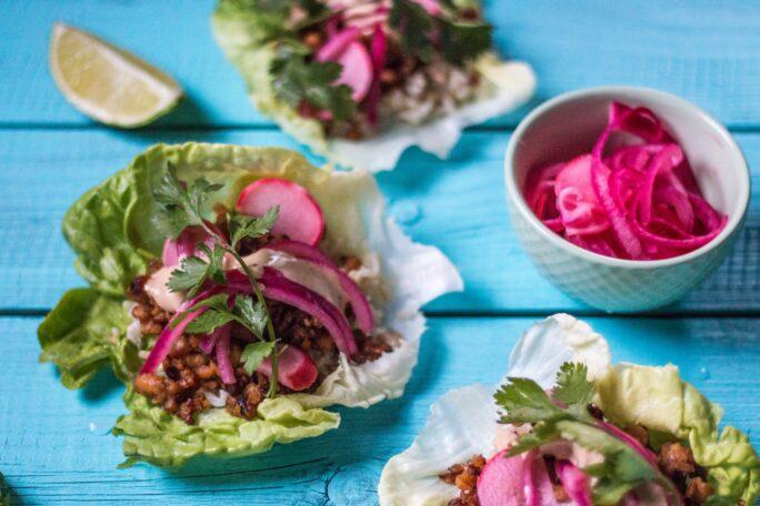 Korean tempeh lettuce wraps the nut free vegan forumfinder Choice Image