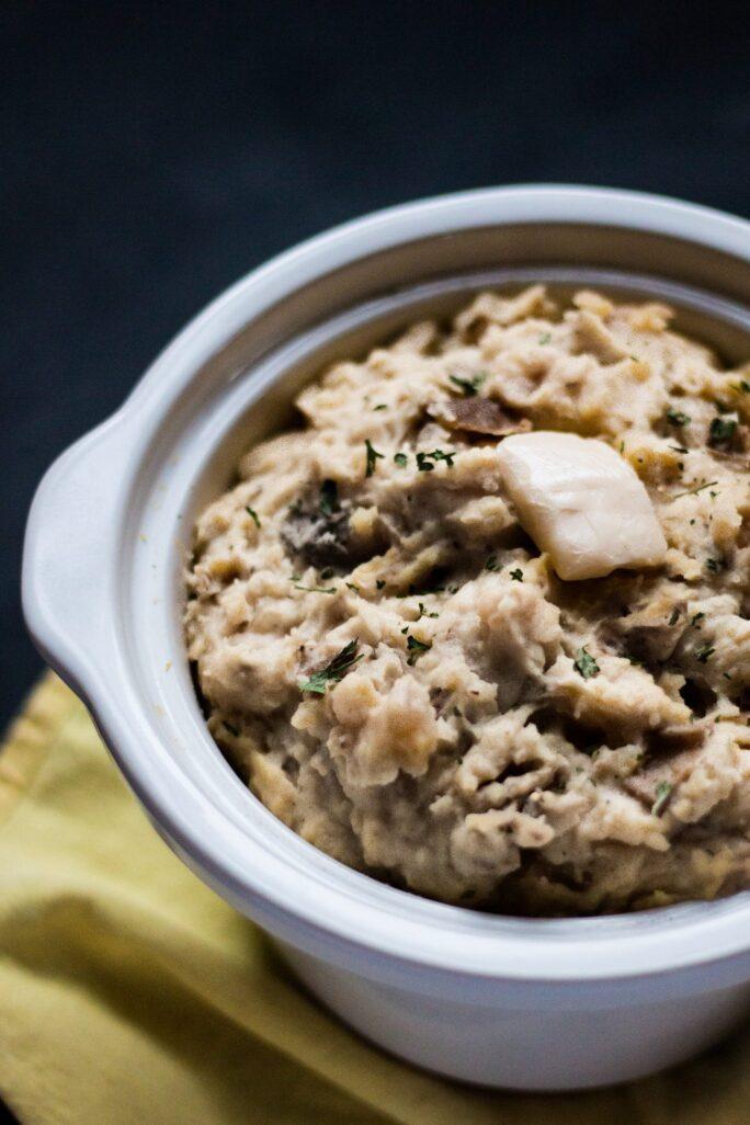 Slow Cooker Smashed Potatoes - The Nut-Free Vegan