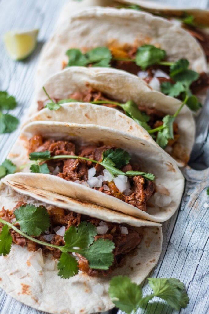 SImple, delicious Jackfruit Tacos Al Pastor Vegan Nut-Free Nutfreevegan