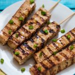 Vegan Teriyaki Tofu Skewers Appetizer Vegan Teriyaki Tofu Skewers | www.thenutfreevegan.net