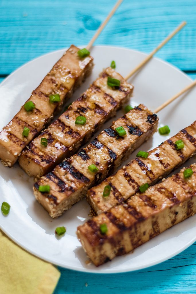 Teriyaki Tofu Skewers Appetizer | www.thenutfreevegan.net