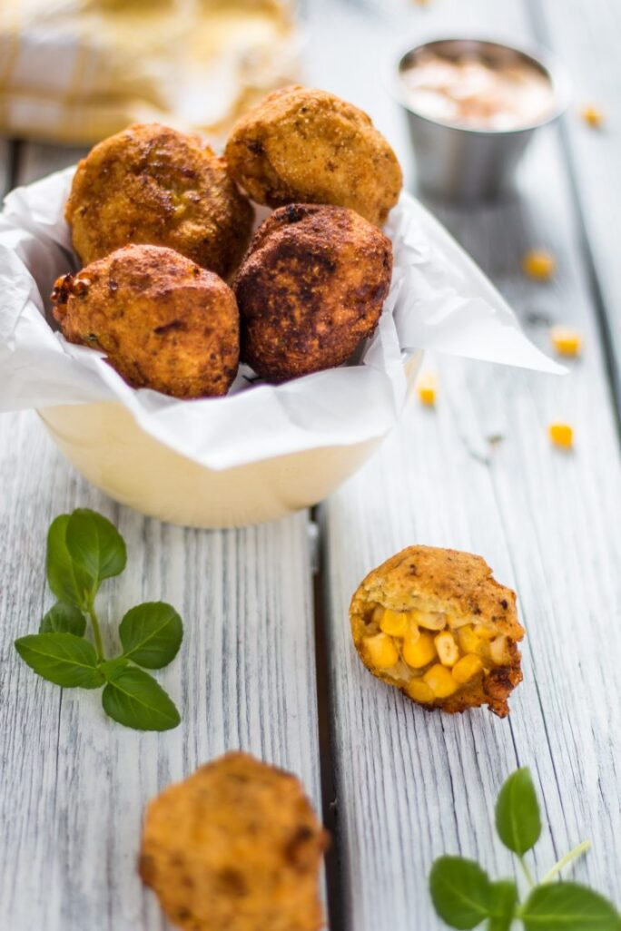 delicious and easy vegan corn nugget appetizer | www.thenutfreevegan.net