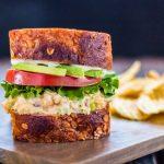 "Simple and delicious vegan chickpea ""tuna"" salad   www.thenutfreevegan.net"