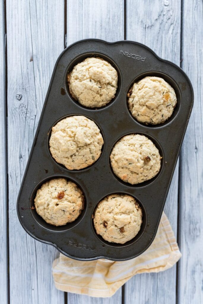 Simple and delicious Golden Raisin and Rosemary Muffins nutfreevegan