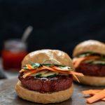 Thai Red Curry Burger with Beyond Meat Beyond Burger Vegan Nutfreevegan