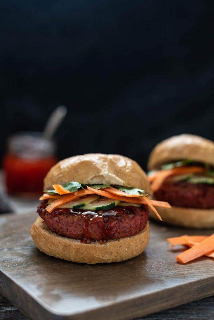 Thai Curry Burger with Beyond Meat Beyond Burger Vegan Nutfreevegan