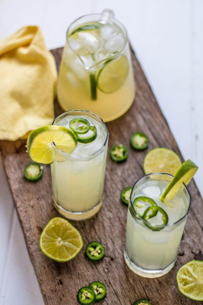 Sweet and Spicy Jalapeno Limeade