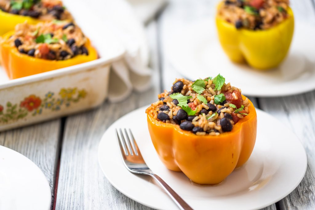 Southwestern Stuffed Peppers-The Nut-Free Vegan