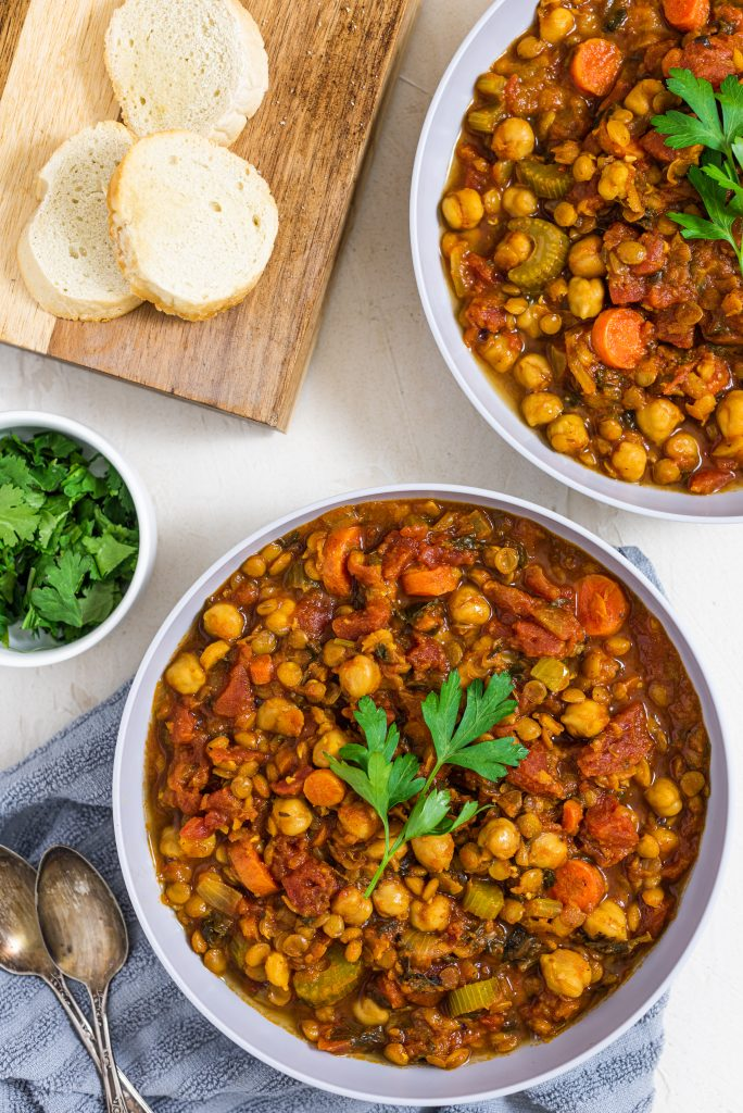 Instant Pot Harissa (Moroccan Chickpea and Lentil Soup)
