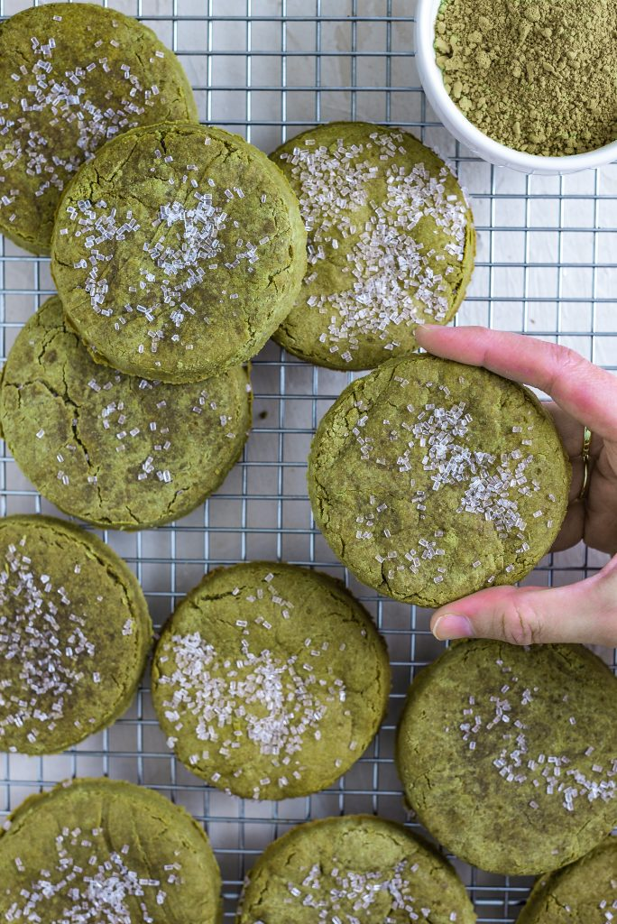 Matcha Sugar Cookies Nutfreevegan