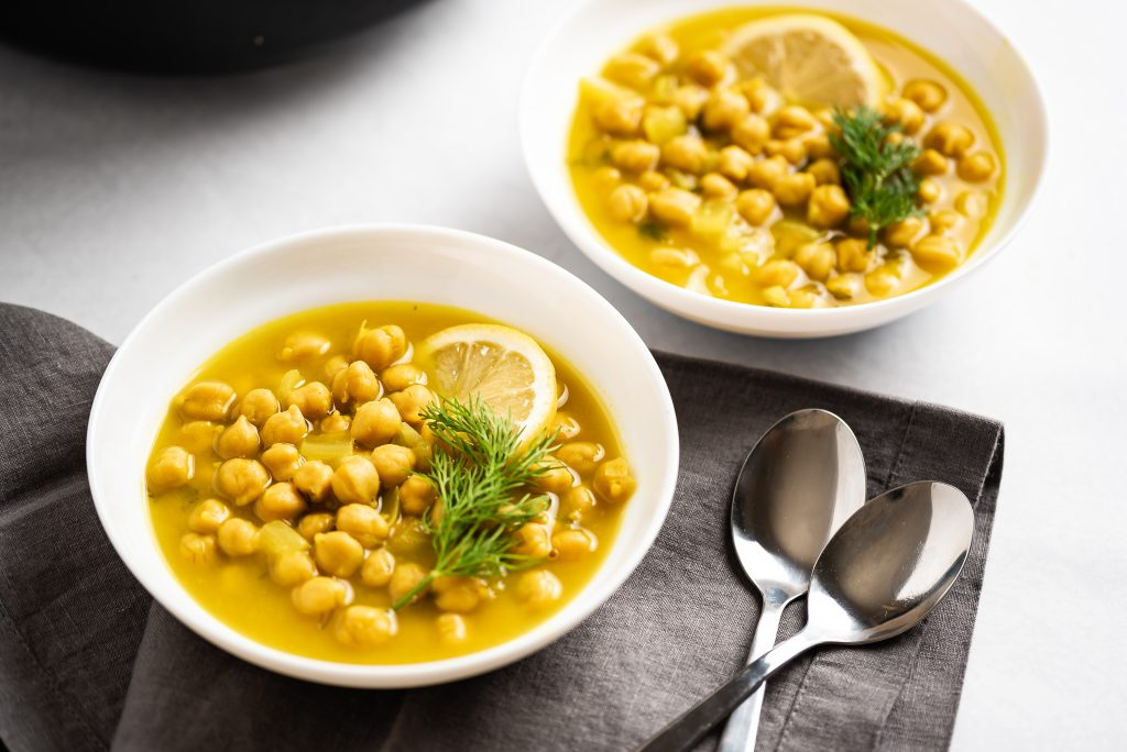 Lemon Dill Chickpea Soup Nutfreevegan