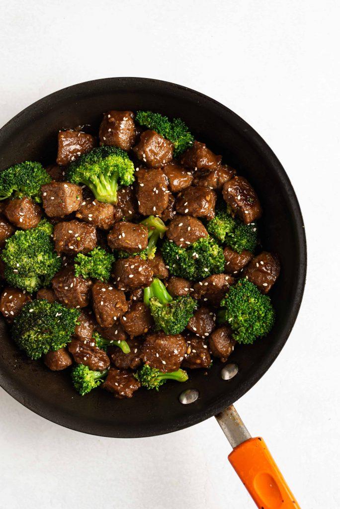 Beefless Beef and Broccoli Nutfreevegan