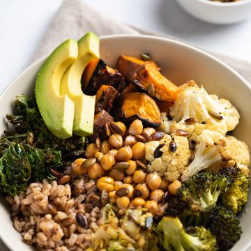 Sheet Pan Veggie Buddha Bowl Nutfreevegan